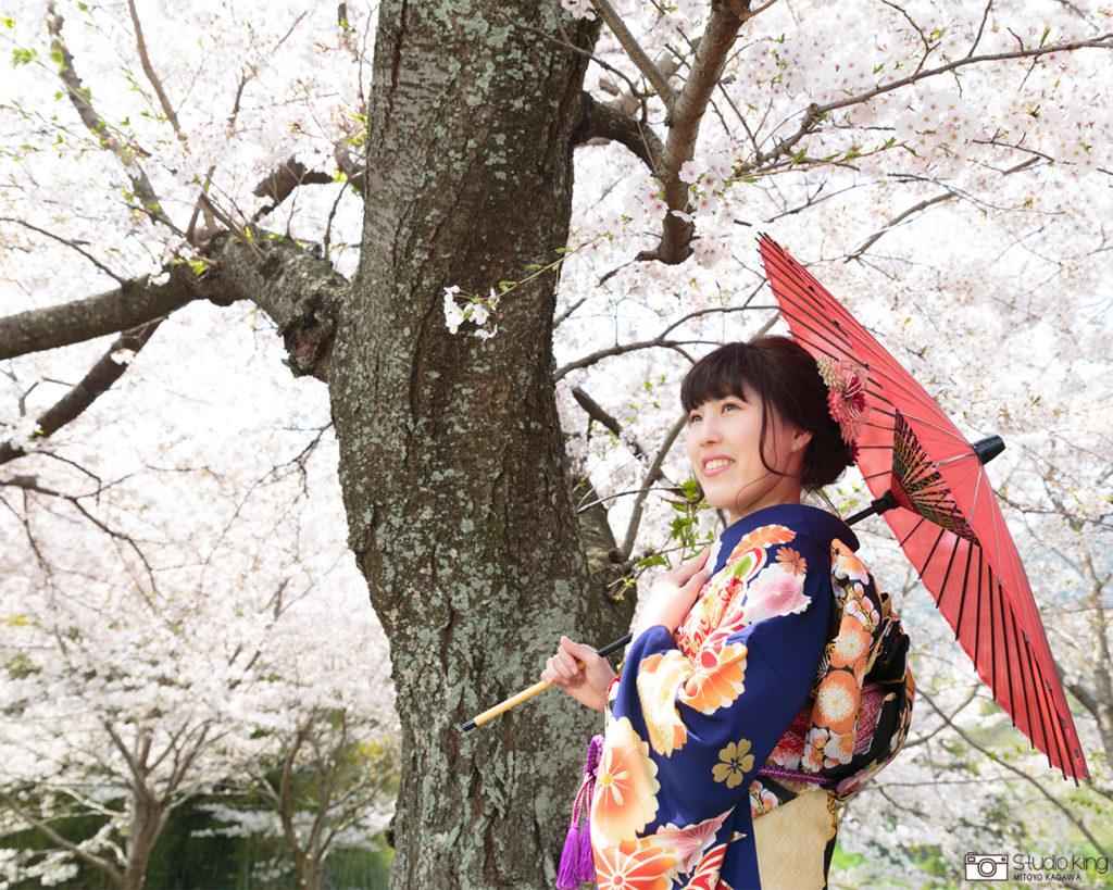 成人式桜ロケーション撮影